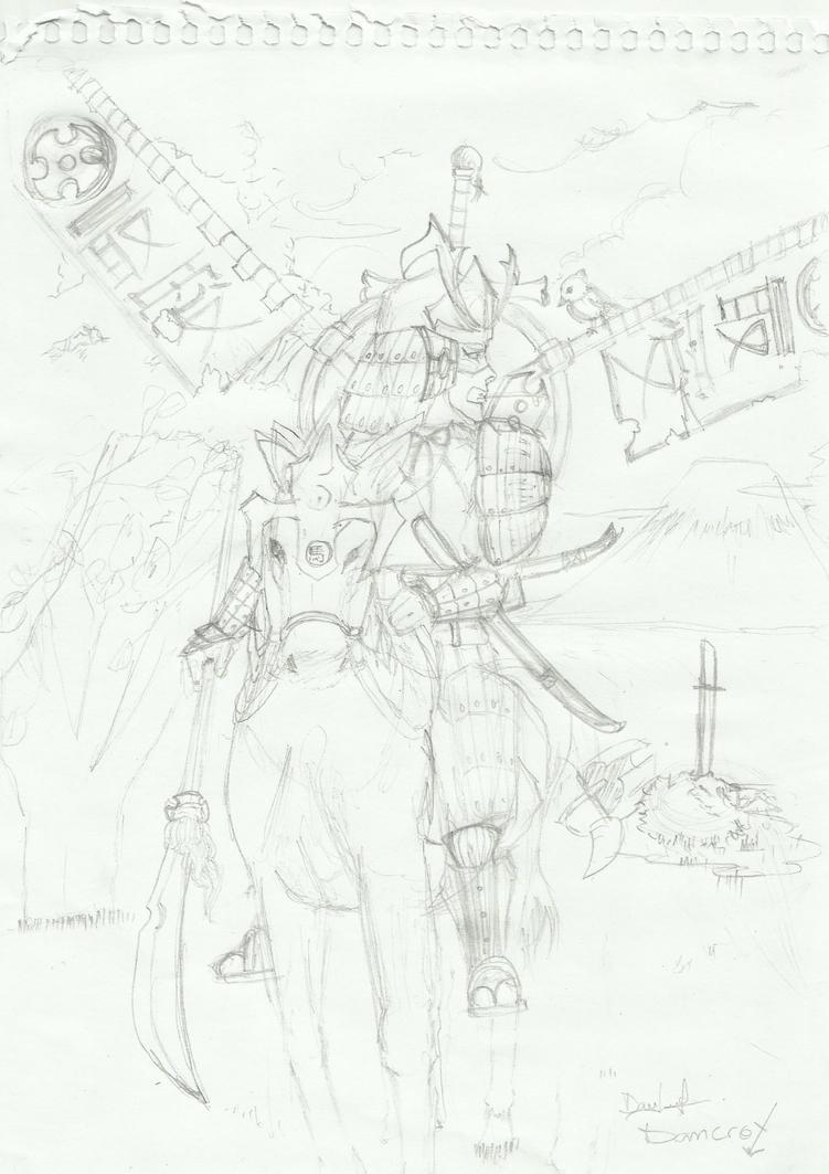 desafio dos desenhistas NEW VERSION - Página 2 Sketch_de_samurai_by_dancrox-d6howpv