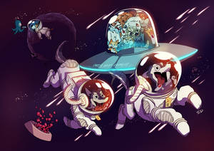 Commission - Space pups
