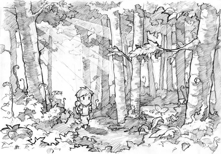Walking in the woods by edwardgan