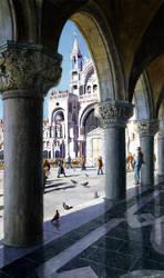St. Marks Square, Venice by FredaSurgenor