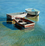 Moored in shallow water
