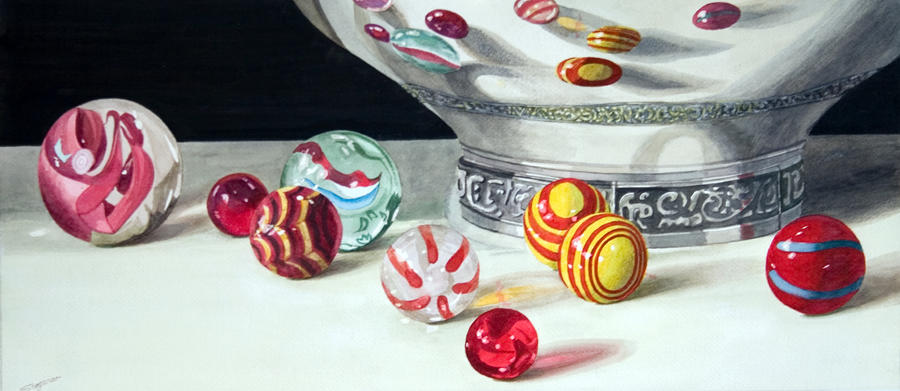 Nine marbles by fredasurgenor