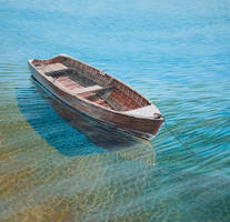 The old wooden boat by FredaSurgenor
