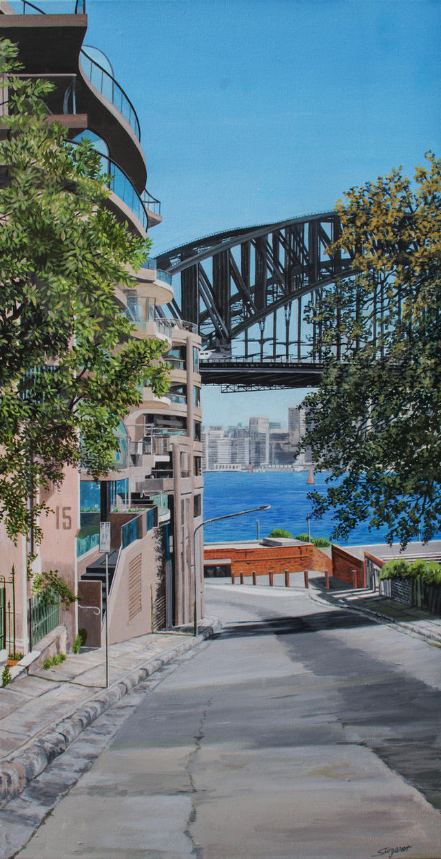 Down to the Harbour Bridge by fredasurgenor