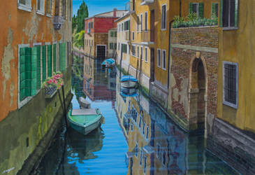 Quiet spot, Venice by FredaSurgenor