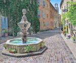 Floral Fountain, Venasque, France