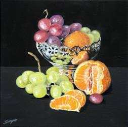 Mandarins and Grapes