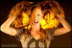Flaming Redhead by Doomsday-Dawn
