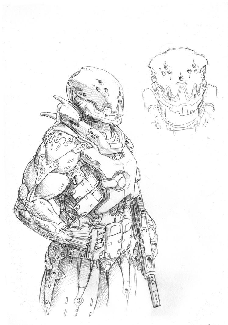 Scifi suit thingie by PenUser