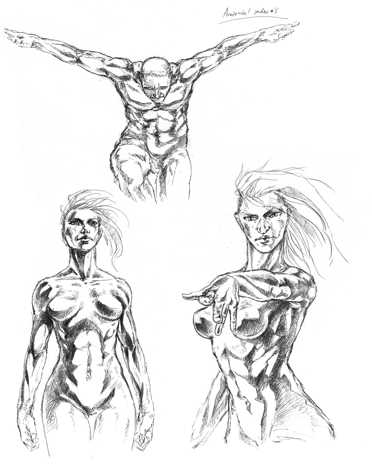 how to draw a basic male figure no muscles