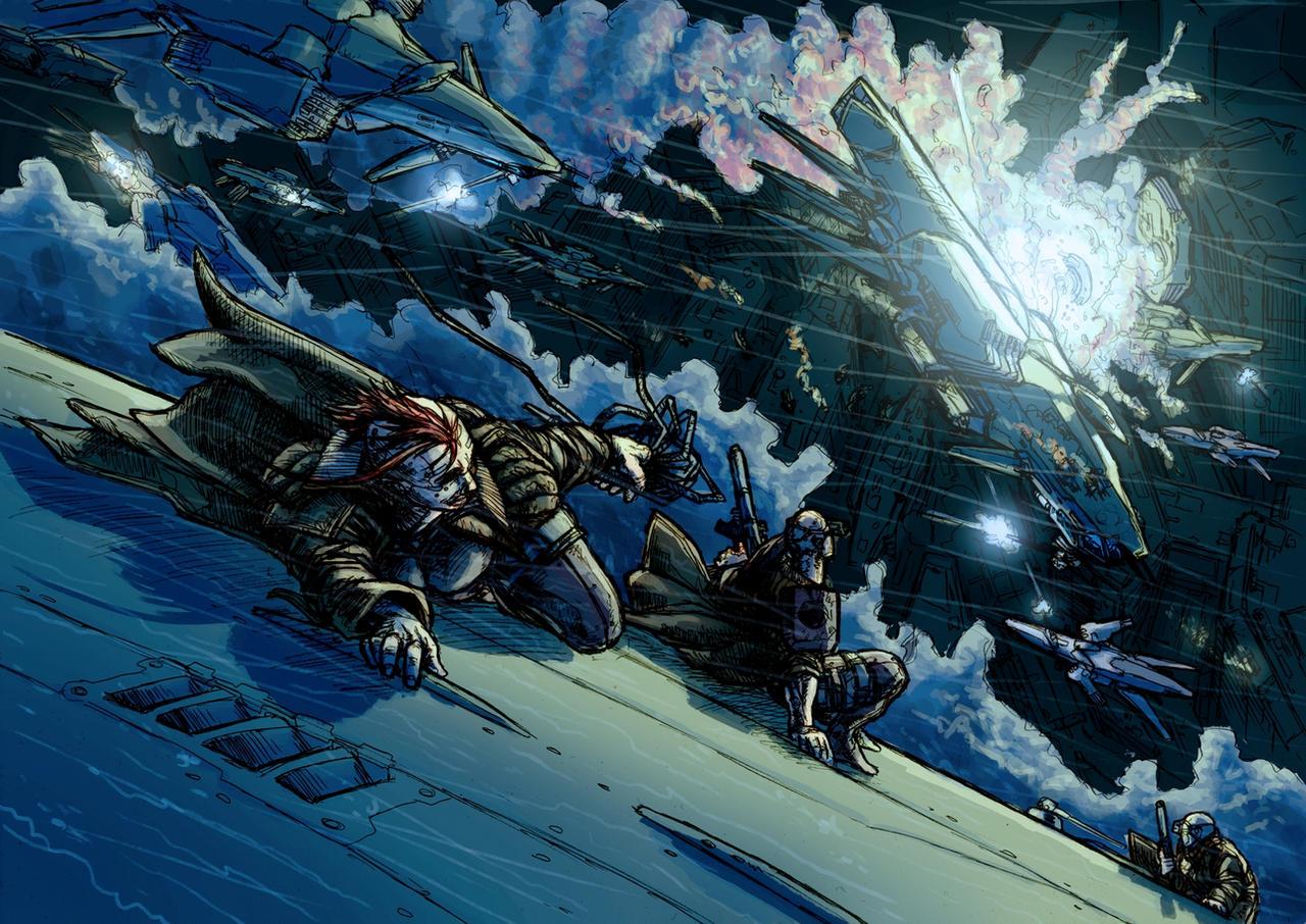 Carnage in the skies by PenUser
