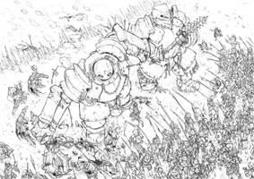 Unleash the golems- Sketch by PenUser