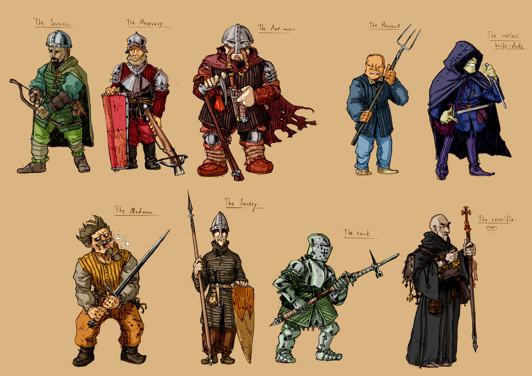 Medieval characters by PenUser