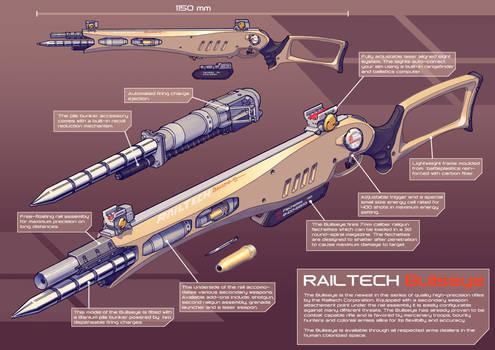 Railtech Bullseye- pile bunker rifle