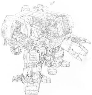 Sketch- 40K Dreadnought Cross-section