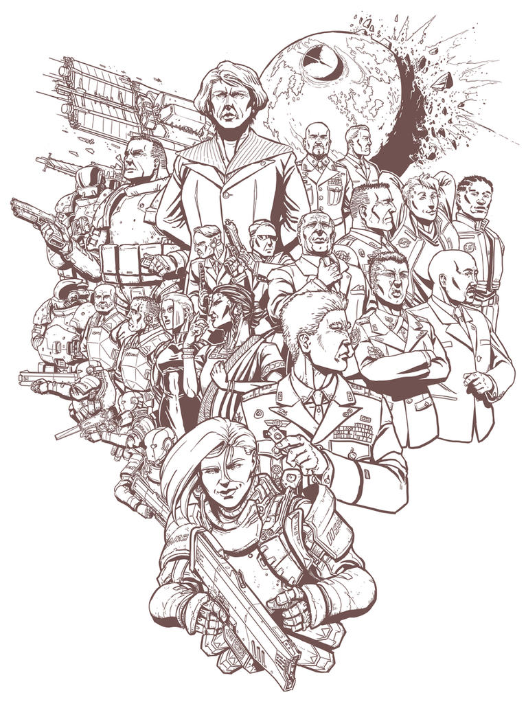 Requiem poster- Characters by PenUser