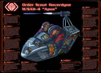 Order Scout Hoverbike cross-section by PenUser