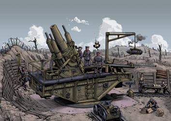 Siege gun position by PenUser