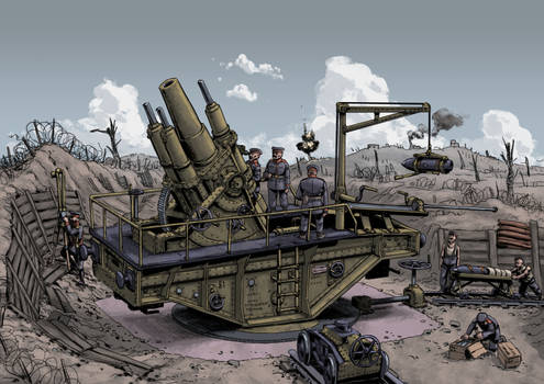 Siege gun position