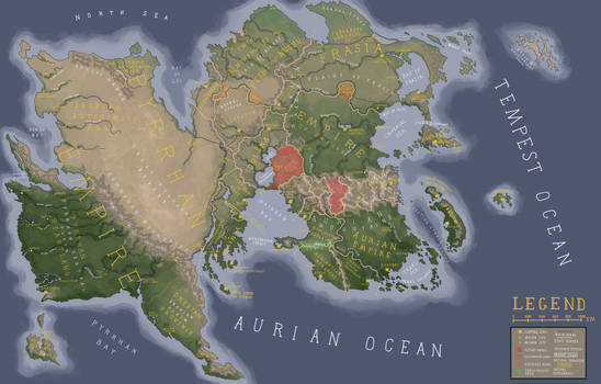 Updated Map of the Continent