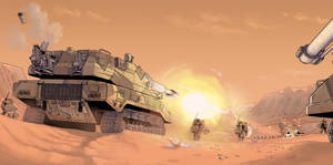 Heavy firepower at the Oracle Dunes