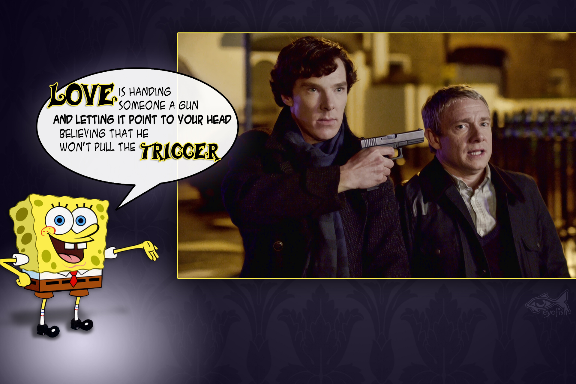 Sherlock Fan Art Wallpaper Spongebob Sherlock By Eyefish Ddfrxe