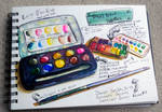 Watercolor Travel and Field Kit Palette by jempavia