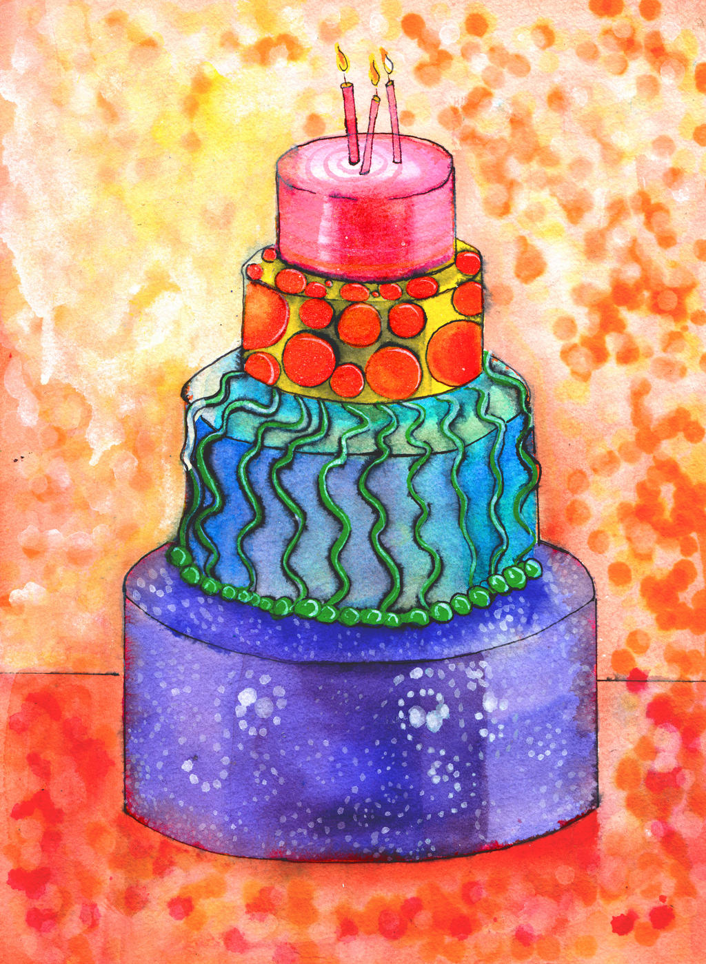 Cake Art By Jen : Cake by jenthestrawberry on DeviantArt
