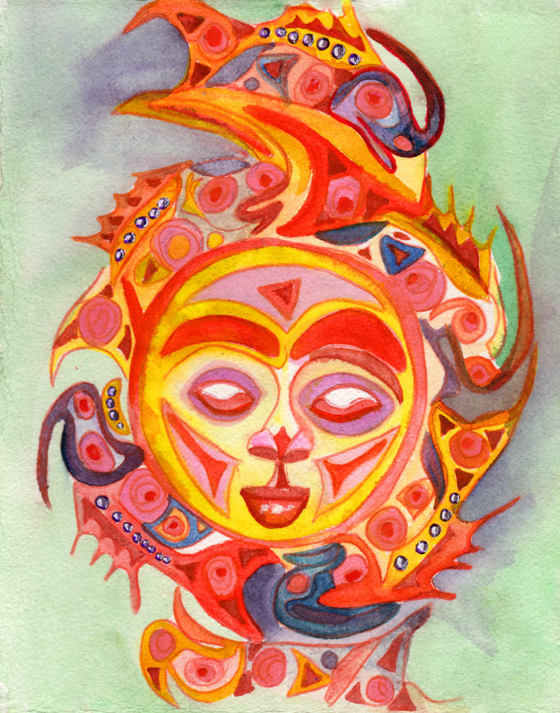 Sun and Fish in Color by jempavia on DeviantArt