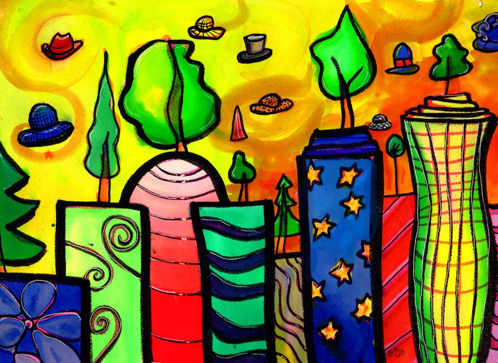 U.F.O.s Over Tree City by jenthestrawberry