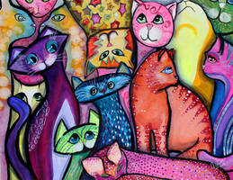 Colorful Cats 1 by jempavia