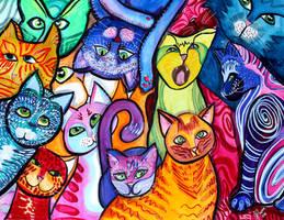 Colorful Cats 2 by jempavia