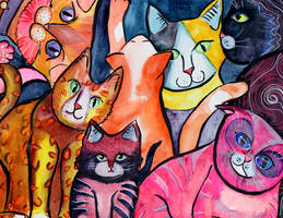 Colorful Cats 5 by jempavia
