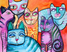 Colorful Cats 6 by jempavia