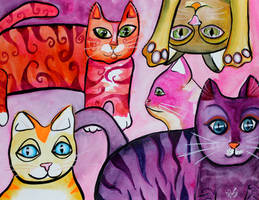 Colorful Cats 7 by jempavia
