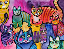 Colorful Cats 8 by jempavia