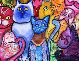 Colorful Cats 9 by jempavia