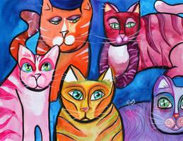 Colorful Cats 10 by jempavia