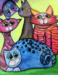 Colorful Cats in Portrait 3