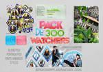 +PACK DE 300 WATCHERS C':