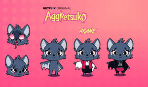 Aggretsuko Oc: Akane (Small Ref and Bio)