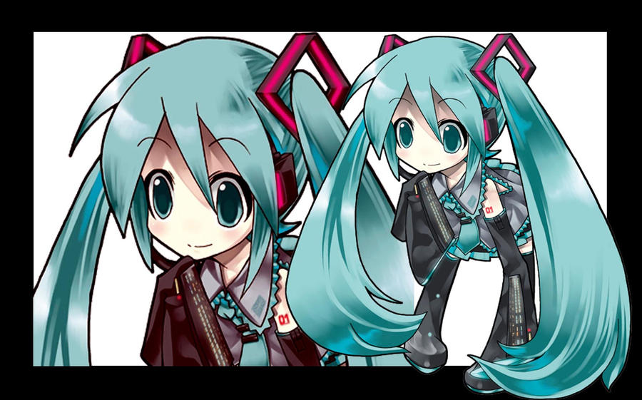 CHIBI HATSUNE MIKU : WALLPAPER by Rena51 on DeviantArt Hatsune Miku Chibi Wallpaper