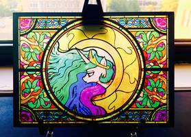 Altare Secretum: Celestia: Glass Print by Cigitia