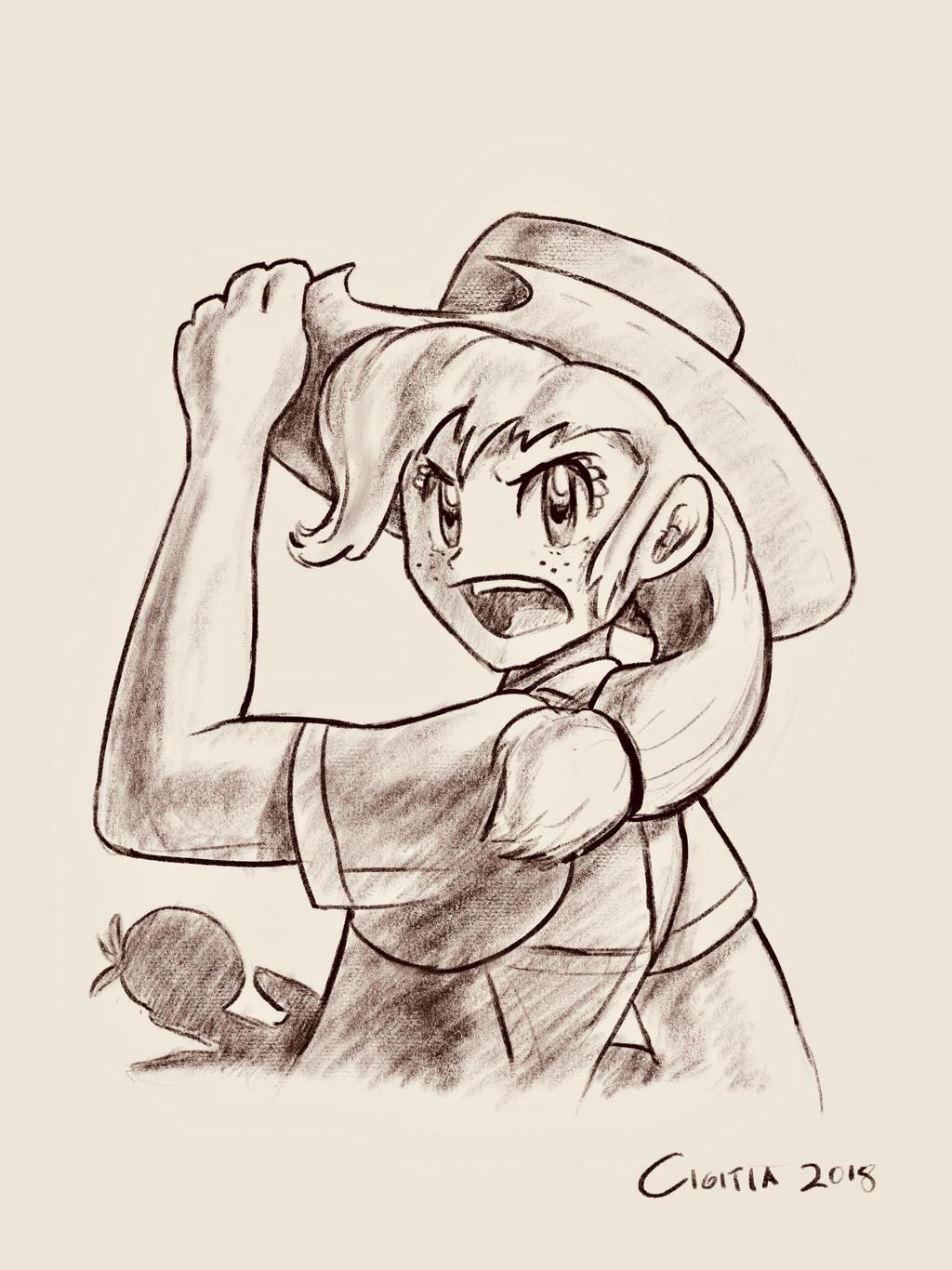 Human Applejack, Sugimori style [MLP-G4 commission