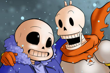 Bonebros by SpazzyMouseGirl