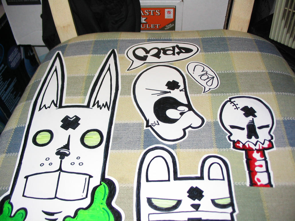 Character stickers by blinky2lame