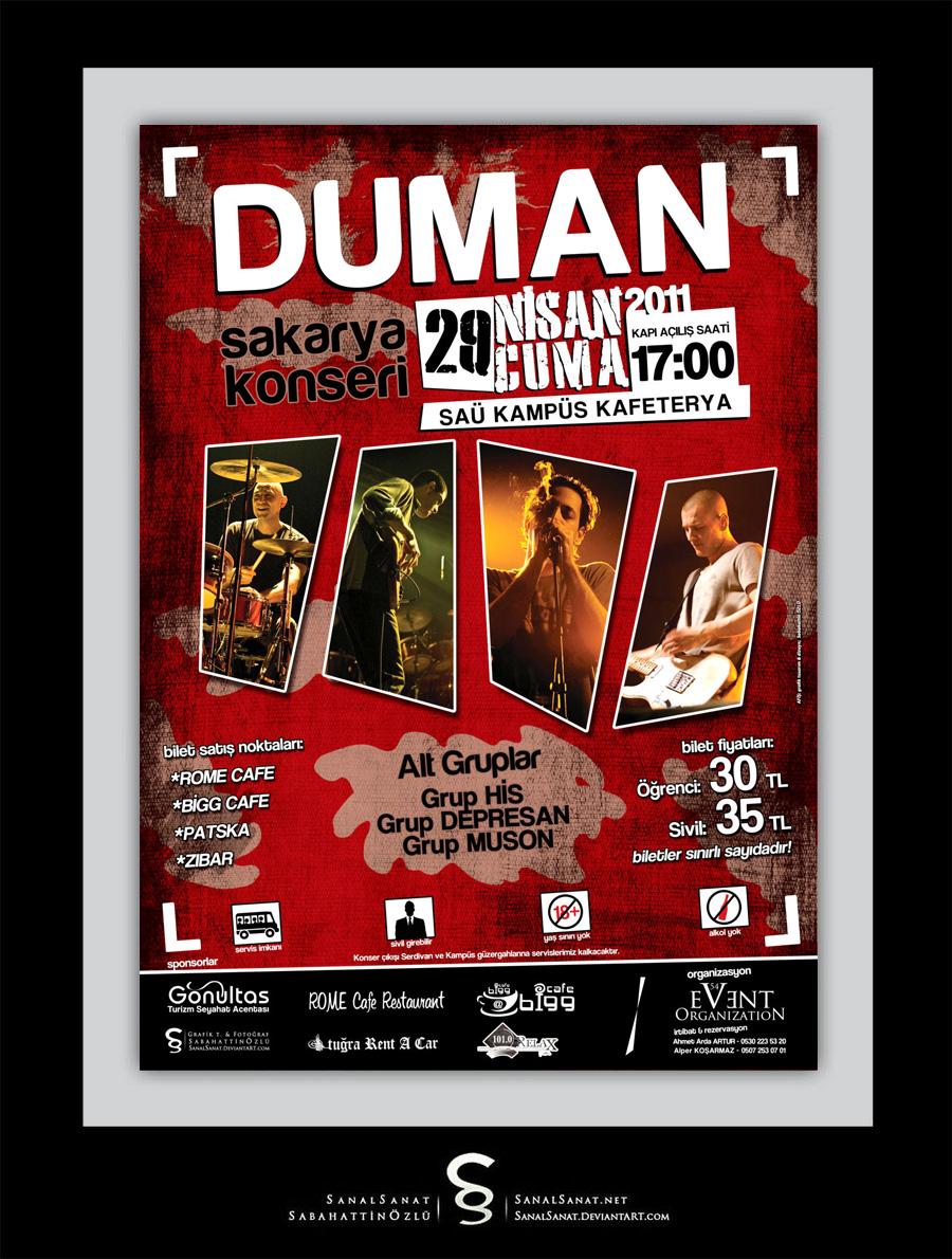 Duman -  Concert Poster by SanalSanat