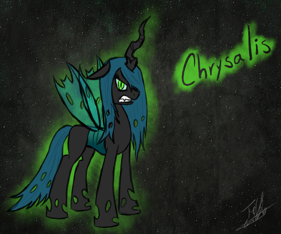 angry queen chrysalis by tomaz777 on deviantart