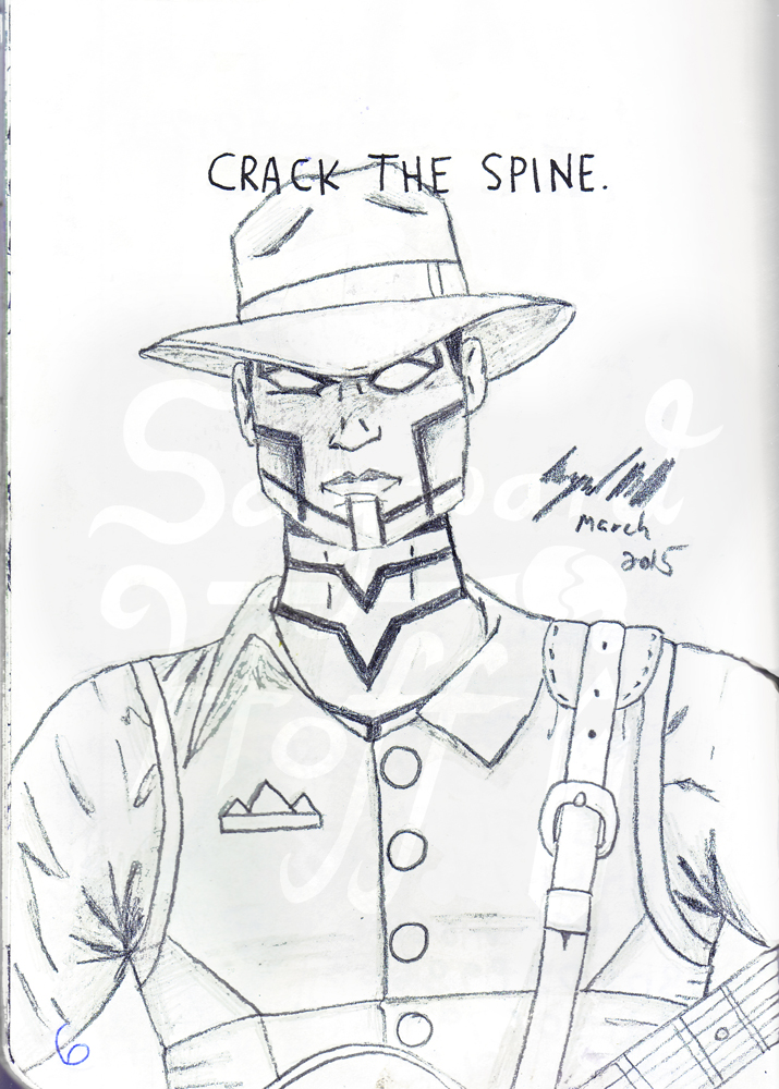 Crack the Spine - Scan and cleanup by kiera-oona