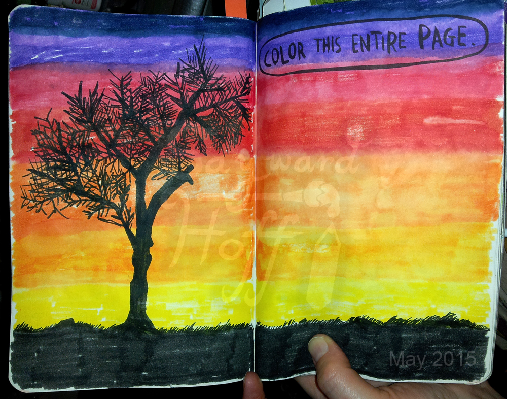 Wreck This Journal Colour This Entire Page By Kiera Oona On Deviantart